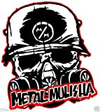 MFX Design Metal Mulisha with Mask Skull Bumper Sticker Decal Tool Box Sticker Decal Laptop Sticker Decal Vinyl - Made in USA 4 in. x 3.75 in.