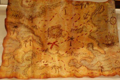 P'tit Clown 20019 Mapa pirata, 29 x 45 cm, plástico, multicolor