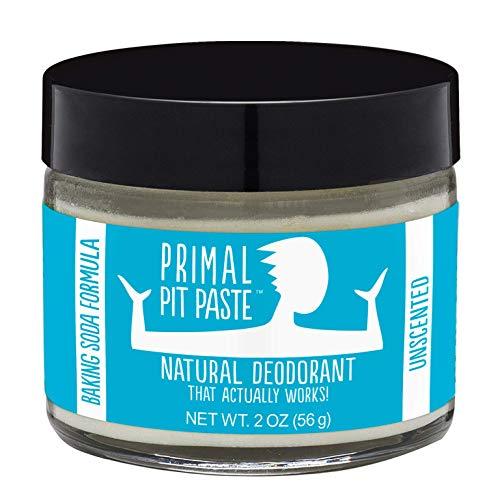Primal Pit Paste All-Natural Deodorant - Aluminum & Paraben Free - Unscented Deodorant Jar
