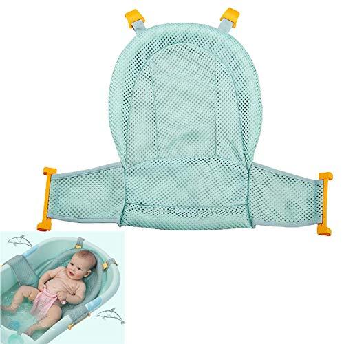 Cojín flotante suave para baño de bebé y tumbona para recién nacidos azul azul