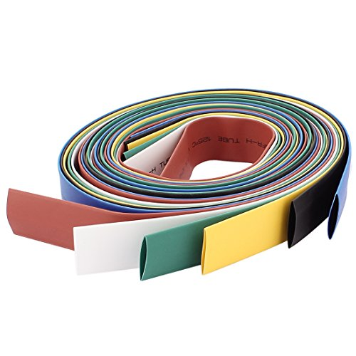 Aexit 14mm 2:1 Shaft Collars Ratio Heat Shrinkable Tube Shrink Tubing Colorful Heat Shrinkable Shaft Collars 3.2Ft 6pcs