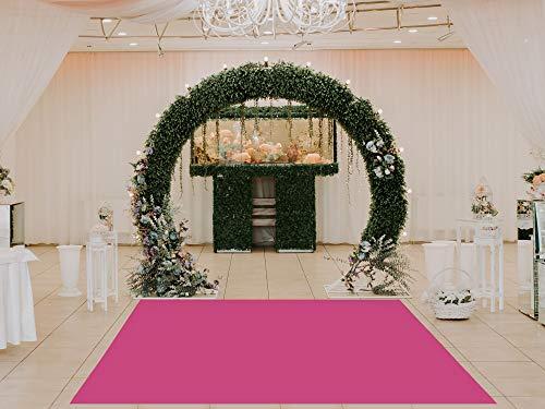 Oedim Alfombra Rosa para Bodas PVC   100 x 100 cm   Moqueta PVC   Suelo vinílico   Decoración del Hogar   Suelo Sintasol   Suelo de Protección  