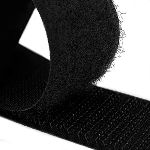 Country Brook Design - Black Sew on Hook and Loop (2 inch, 10 Yards)