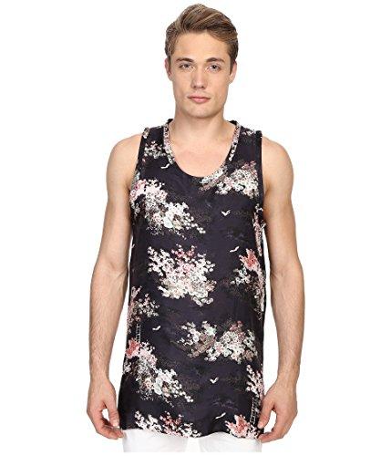 Marc Jacobs Men's Mellow Meadow Oversize Silk Tank Top, Navy Multi, LG