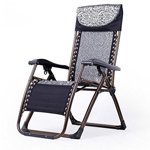 Cylficl Silla reclinable Plegable Descanso for el Almuerzo Oficina de Verano Balcón Silla en casa Silla fácil de Playa (Color : T)