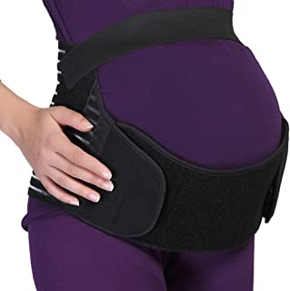 NEOtech Care Maternity Belt - Pregnancy Support - Waist/Back/Abdomen Band, Belly Brace (Black, Size S)