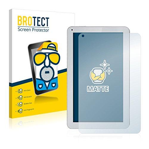 BROTECT 2X Entspiegelungs-Schutzfolie kompatibel mit irulu eXpro X1S (10.1) Bildschirmschutz-Folie Matt, Anti-Reflex, Anti-Fingerprint