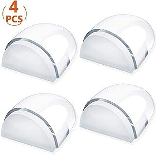 Junlic Tope de Puerta para Suelo, [Set de 4] Topes para Puertas Transparente Autoadhesivo Protección de Pared y Muebles