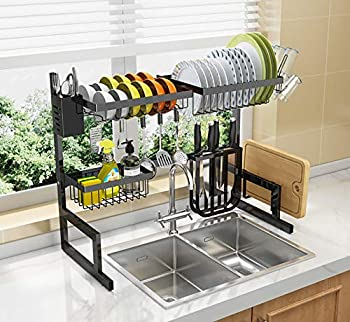 Lonove 2 Tier Stainless Steel Dish Drying Rack With Drainboard