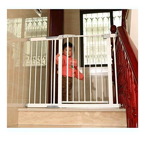 Baby Gate Pet Dog Fence Children Stair Guardrail Safety Door Baby Stairway Anti-Fall Guard Railing Door (Color: High80CM, Size: 110-117cm)