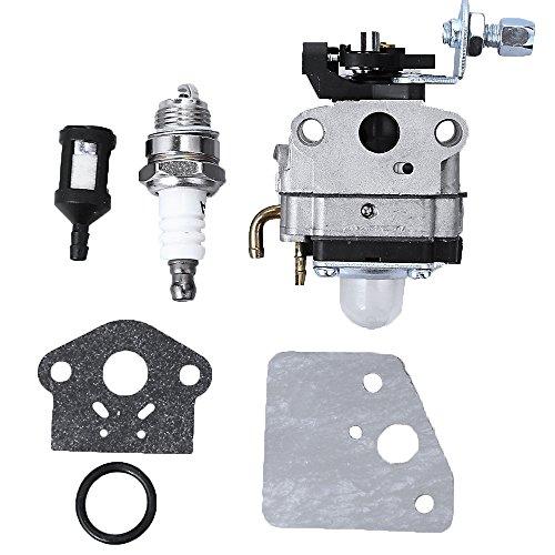 Anxingo Carburetor Carb Assembly with Spark Plug Gasket for Troy-Bilt TB575EC TB539ES TB590EC Trimmers Replaces# 753-06220A 753-06220