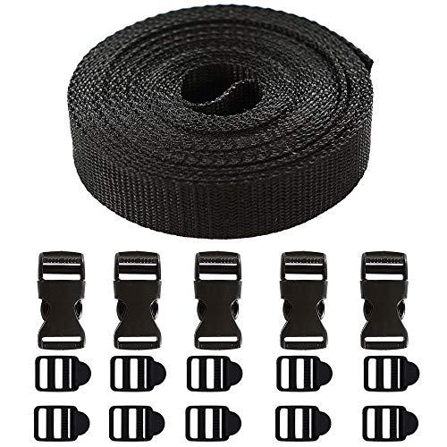 16mm Gurtband 10mm 20mm Halsband Leine Tasche Band 2m 5m 10m 50m Rolle