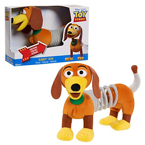 Disney and Pixar Toy Story Slinky Dog Plush, Toys for 3 Year Old Girls and Boys by Just Play