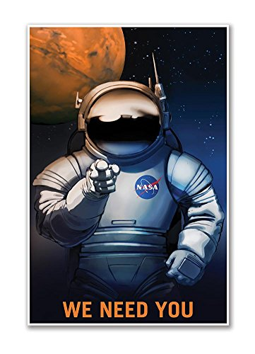 Gallery Prints WE Need You - NASA Mars Explorers Wanted Space Travel...