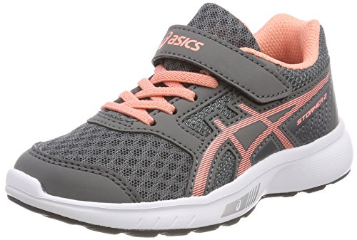 Asics Stormer 2 PS, Zapatillas de Running Unisex Niños, Gris (Carbon/Begonia Pink/White 9706), 27 EU