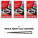 SanDisk Cruzer Blade 32GB (3 Pack) SDCZ50-032G USB 2.0 Flash Drive Jump Drive Pen Drive SDCZ50-032G - Three Pack