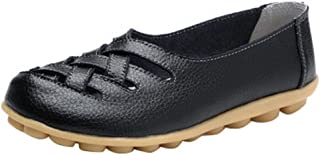 Women's Comfortable Flats Leather Loafers Summer Casual Slip On Rubber Sole Fashion Soft Mesh Soft Breathable Shoes