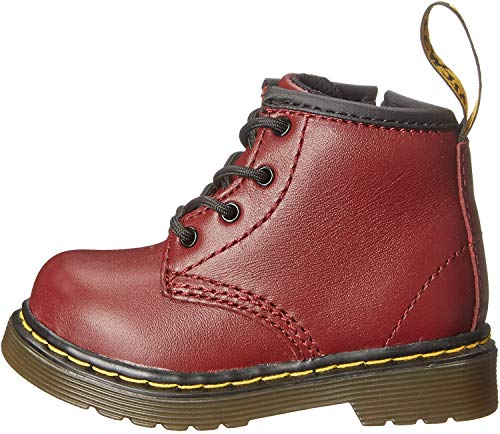Dr. Martens Unisex-Kinder Brooklee B Softy T Bootsschuhe, Rot (Cherry Red), 19