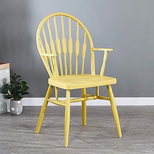 Sillas CJC Windsor, Sillón Plástico Diseño Moderno Casa, Comedor, Cocina, Habitación, Salón (Color : Yellow)