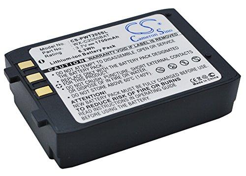 CS - Batería de ion de litio (1700 mAh, 6,29 Wh) para WX-CT2050 Attune Aio 2050 WX-CH2050 Ultraplex II 2051, sustituye a 2050BAT 2051BAT PA12110026 WX-C2050BAT
