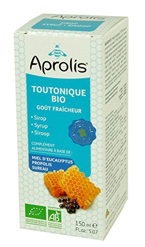 Sirop Bio TOUTONIQUE - Apaise et Purifie - Miel d'eucalyptus, Sureau et Camomille - 150ml