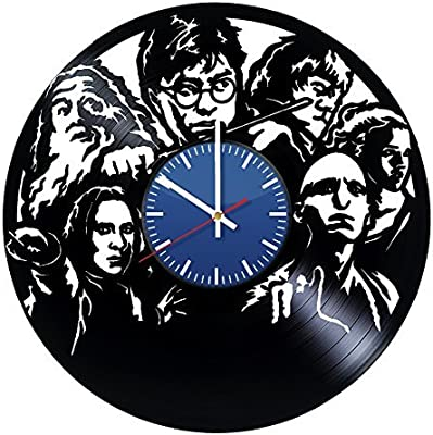AmKa Harry Potter Heroes Handmade Vinyl Record Wall Clock Fun Gift Vintage Unique Home Decor