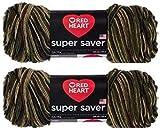 Bulk Buy: Red Heart Super Saver (2-Pack) (Camouflage, 5 oz Each Skein)