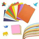 Counius 100 Hojas Papel Origami Set Artesanal A4 Color Papiroflexia con 10 Paquetes Origami Cuadrado Hecho a Mano Para Proyectos Artes,Bricolaje Oficios y Hacer Tarjetas