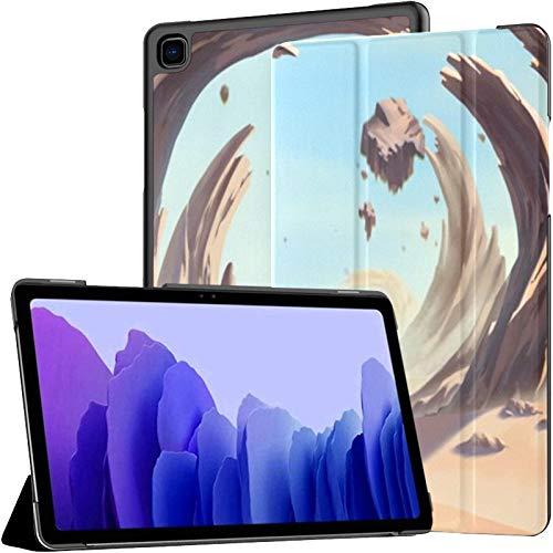 Funda para Samsung Galaxy Tab A7 Tableta de 10,4 Pulgadas 2020 (sm-t500 / t505 / t507), fantástica Cubierta de Soporte de ángulo múltiple de tormenta Ambiental con Planetas Allen exóticos con activac