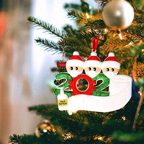 Microgadget 2020 Christmas Soft Ornament Xmas Tree Decoration Quarantine Survivor Family Personalized Xmas Gift (Family 3)
