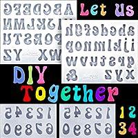 4ピース 文字型 数字型 シリコンフォンダン型 チョコレート型 小文字 0~9 数字 ハンドメイド ソープ型 アイスキューブトレイ シリコン型 ベーキングデザート用 透明