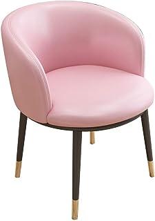 SJHQ Sillas de comedor, sillas de cocina, decoración de uñas para ordenador, uso en el hogar, respaldo, dormitorio, balcón, encimera, cocina (color: rosa)
