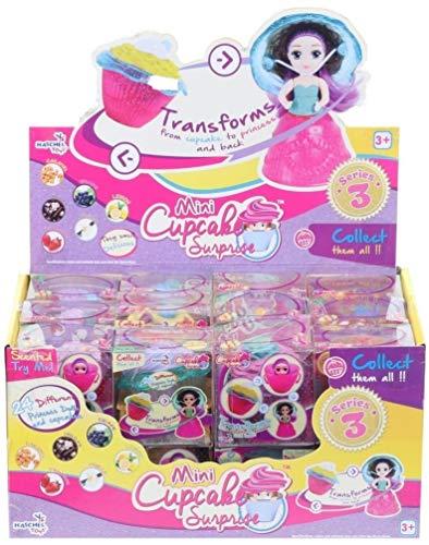 Familienkalender Puppe Mini Cupcake Surprise mit Duft Sortiert im Display 5,5x5,5cm | | Geschenk für Kinder | Mädchen | Jungen | Spielzeug