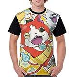 メンズ 半袖妖怪ウォッチ Tシャツ 創意デザイン 原宿系 おしゃれ 男女兼用トップス 3d個性的tシャツ メンズ 夏服 おもしろtシャツトップス (吸汗速乾)