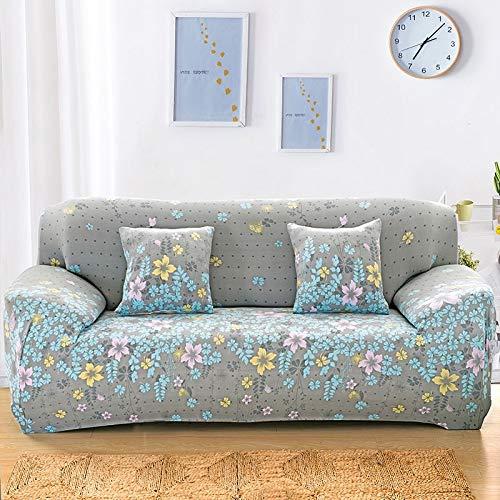 uyeoco Funda Elástica de Sofá Funda Estampada para sofá Antideslizante Protector Cubierta de Muebles (Color : P, Size : 1-Seater (90-140 cm))