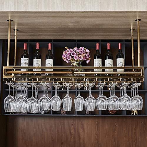 LXYPLM-WR1 Wine Rack Wine Organizer Rack Wine Rack Bar Counter Hanging Goblet Rack Bar Wine Rack Upside Down Wine Glass Rack Suspended Ceiling Rack for Bars Restaurants Kitchens (Size : 80 * 35cm)