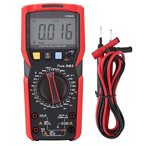 UT89X / UT89XD NVC Medidor Digital de Voltaje Probador con Pruebas de Temperatura (Rojo y Gris)(UT89XD)