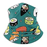 KAWAHATA Japan Sushi Food Bufanda Máscara Beanie Balaclava Brenda Exterior Neck Ear Warmer Ski Headwear Elastic Breathable Snood Sports Yoga Running Cycling Hiking