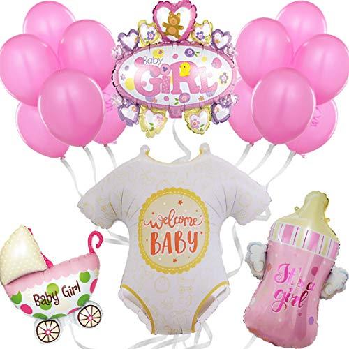 Babyparty deko mädchen, Babyshower Girl Rose, Baby Shower decorations Boy Party, babyparty deko Junge, Dekoration geburt, luftballons rose, deko für babyparty, Its a girl