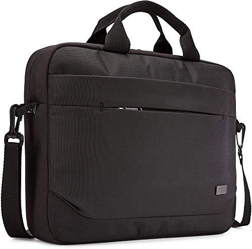 Case Logic Advantage Attaché laptoptas met sleuf voor tablet en voorvak voor kleine apparaten zwart schoudertas 14 inch…