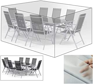 AGLZWY-Garden Furniture Cover Cube Transparent Rain Covers Waterproof Plastic Toughness Outdoor Terrace Table and Chair Dustproof, 31 Size (Color : Clear, Size : 270x180x89cm)