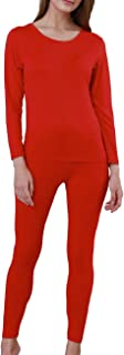 Womens Thermal Underwear Set Long Johns with Fleece Lined Ultra-Soft Warm Henley Base Layer Top & Bottom