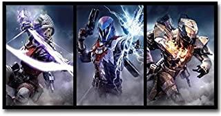 artwu HD Printed Oil Paintings Home Wall Decor Art On Canvas Destiny 2 The Taken King Game 16x24inchx3-390