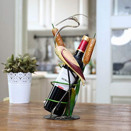 XKMY Housewares - Estante para vino con grúa salvaje para vino, diseño de hierro