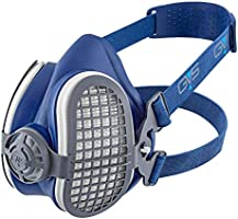 GVS Filter Technology SPR501 Elipse P3 Dust Half Mask Respirator with Replaceable and Reusable Filters Included, Blue,...