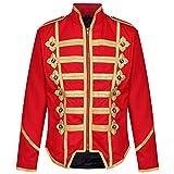 Ro Rox Chaqueta Ajustada de Desfile Militar Punk Percusionista - Oro Rojo (para Hombres L)