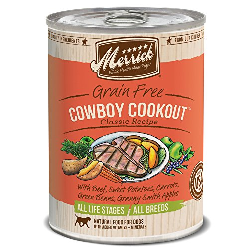 Merrick Classic Grain Free Cowboy Cookout Wet Dog Food, 13.2 oz, Case of 12 Cans