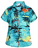 Virgin Crafts Funny Hawaiian Shirts for Women Button Down Blouse Beach Party
