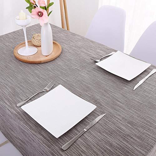 GTWOZNB Tela de Tabla Antideslizante del algodón del Poliester Cubierta Simple de la Tabla de la Manera Color Puro Impermeable Color Liso-café_El 130 * 130cm