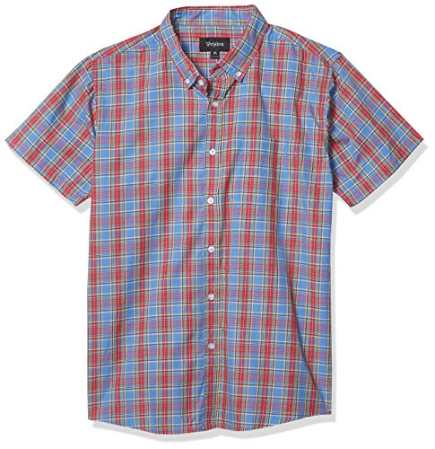 BRIXTON Homme Manches Courtes Arthur Small Red/Blue